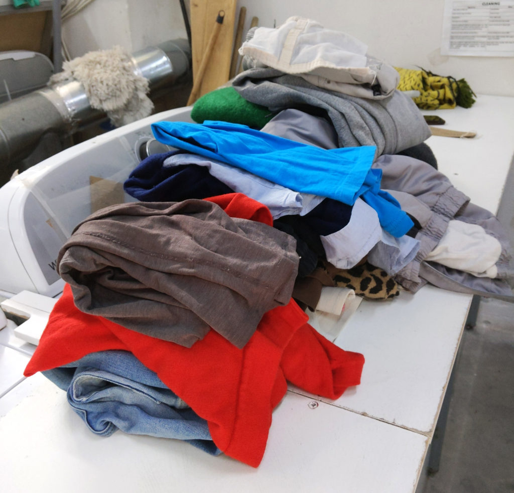 clothes being folded